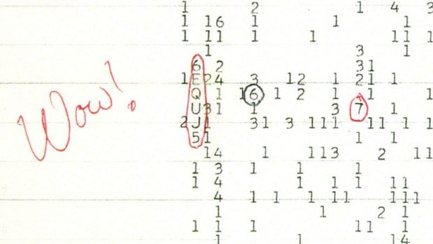 The Wow! signal was a strong narrowband radio signal detected by Jerry R. Ehman on August 15, 1977, while he was working on a SETI project at the Big Ear radio telescope of Ohio State University, then located at Ohio Wesleyan University's Perkins Observatory in Delaware, Ohio.