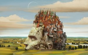 "A hunger after a thousand year nap. An image painted for the NVArt ""Surreal in the style of Jacek Yerka"" contest run by CGSociety and NVIDIA. Software: Photoshop. March 2009. Marcin Jakubowski."