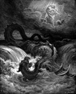The Destruction of Leviathan by Gustave Doré (1865). https://en.wikipedia.org/wiki/Leviathan#/media/File:Destruction_of_Leviathan.png.